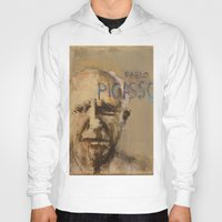 pablo picasso Hoodies featuring 50 Artists: Pablo Picasso by Chad Beroth