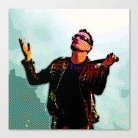 u2 Canvas Prints featuring U2 / Bono 2 by JR van Kampen