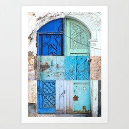 Blue Door Puzzle Art Print