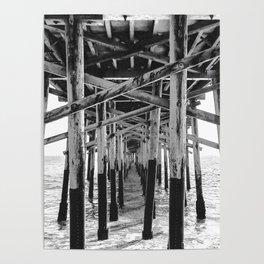 Balboa Pier Print {3 of 3} | Newport Beach Ocean Photography B&W Summer Sun Wave Art Poster