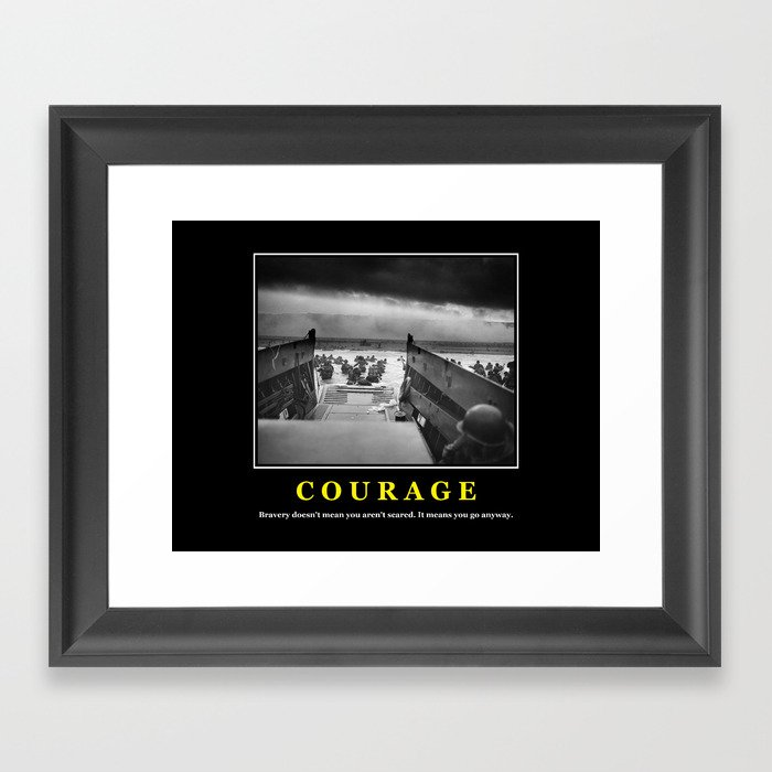 Courage D Day Print Framed Art Print By Warishellstore Society6