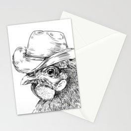 Cowboy cock Stationery Cards