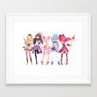 madoka Framed Art Prints featuring Madoka by sarlisart