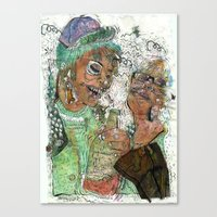 wasted rita Canvas Prints featuring Wasted  by Lauren Utter