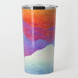 Hilly Lands - rainbow-colored Travel Mug