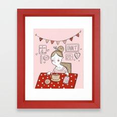 Sad Girls Framed Art Print