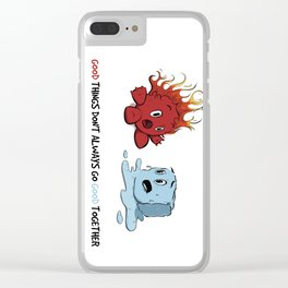 Fire & Ice by dana alfonso Clear iPhone Case