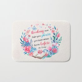 Reading can take you places Bath Mat