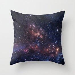 Stars and Nebula Throw Pillow