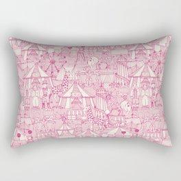 retro circus pink ivory Rectangular Pillow