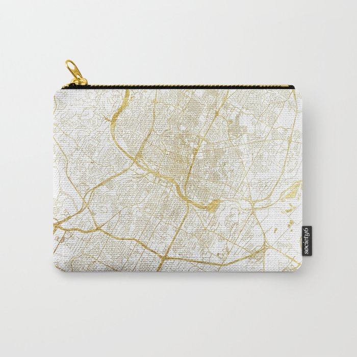 Austin Map Gold Carry-All Pouch