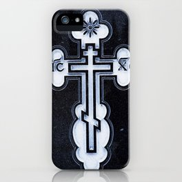 Russian Greek Orthodox Cross iPhone Case