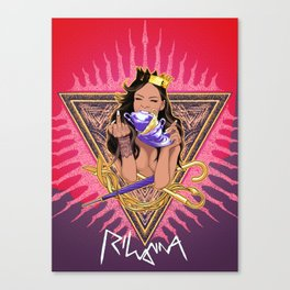 RIHANNA TEAS Canvas Print