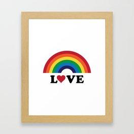 70's Love Rainbow Framed Art Print