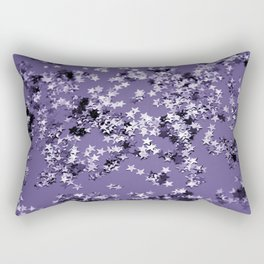 Ultra Violet Glitter Stars #1 #shiny #decor #art #society6 Rectangular Pillow