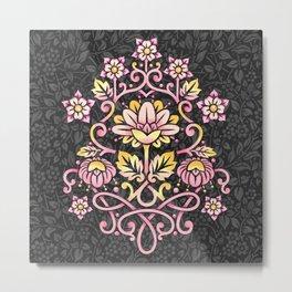 Damask Rose Metal Print