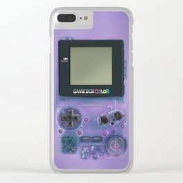 Classic retro transparent purple game watch iPhone 4 5 6 7 8, tshirt, mugs and pillow case Clear iPhone Case