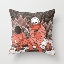 Death in Space Throw Pillow