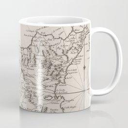 Vintage Map of Sicily Italy (1764) Coffee Mug