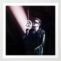 u2 Art Prints featuring U2 / Bono 4 by JR van Kampen