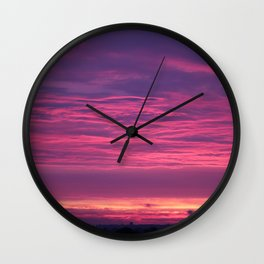 Midsummers Day Sunrise 2012 Wall Clock