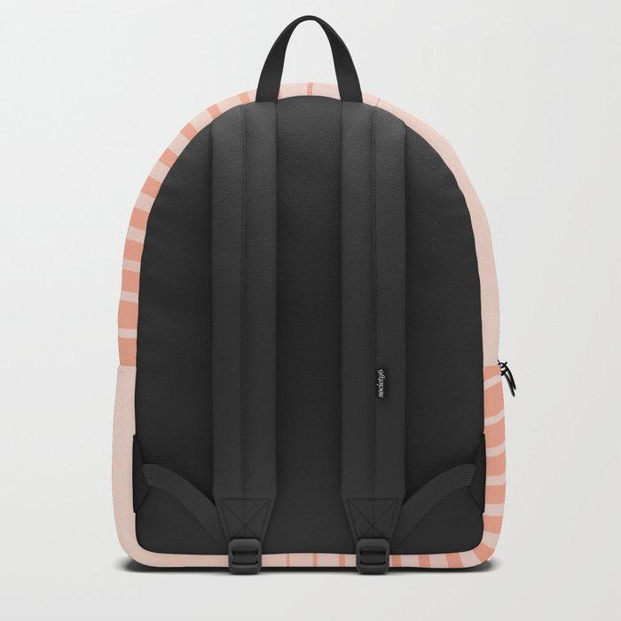 Sweet Life Peach Coral Gradient Backpack
