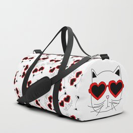 Cat Heart Sunglasses Duffle Bag