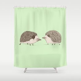 Two Hedgehogs Shower Curtain
