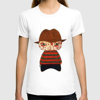 freddy krueger T-shirts featuring A Boy - Freddy Krueger by Christophe Chiozzi