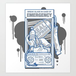 Emergency Hip Hop to the Rescue!  Art Print
