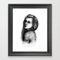 Periphery // Illustration by Hayley Wright Framed Art Print
