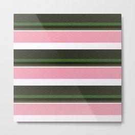 Pink Roses in Anzures 3 Stripes 5H Metal Print