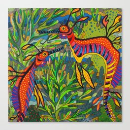 Weedy Seadragons Canvas Print