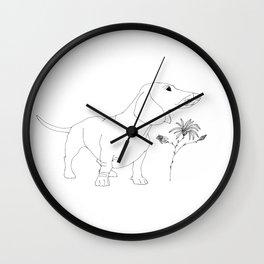 Dachshund illustration Wall Clock