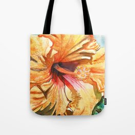 Tropical Yellow Hibiscus Tote Bag