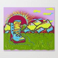 HIKING SUNSET ORIGINAL Canvas Print