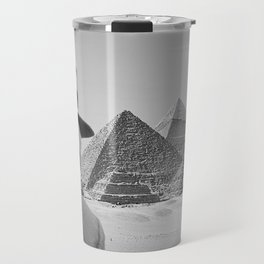 Sloth in Egypt in front of the pyramids Travel Mug