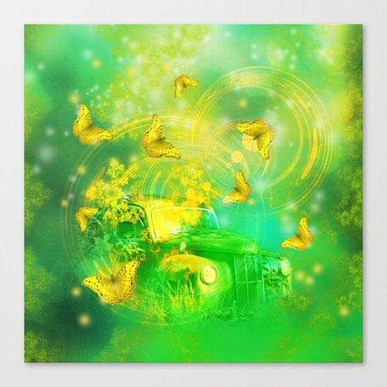Dream wreck with butterflies Canvas Print