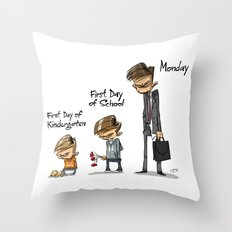 First Day of School Throw Pillow