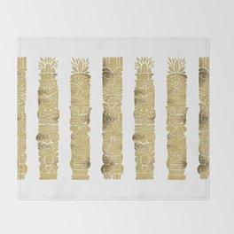 Tiki Totems – Gold Palette Throw Blanket