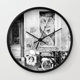 B&W STREETART BERLIN by Jay Hops Wall Clock