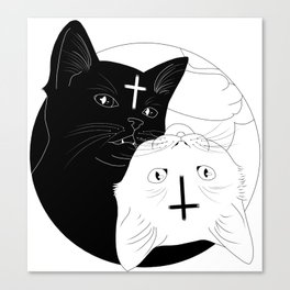Ying yan cats Canvas Print