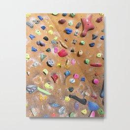 Wooden boulders climbing gym bouldering photography Metal Print