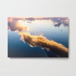 Cloud reflection Metal Print