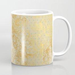 golden vintage damask floral pattern Coffee Mug