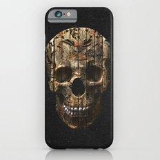 Vintage American Tattoo Skull Wood Stripes Texture Slim Case iPhone 6s