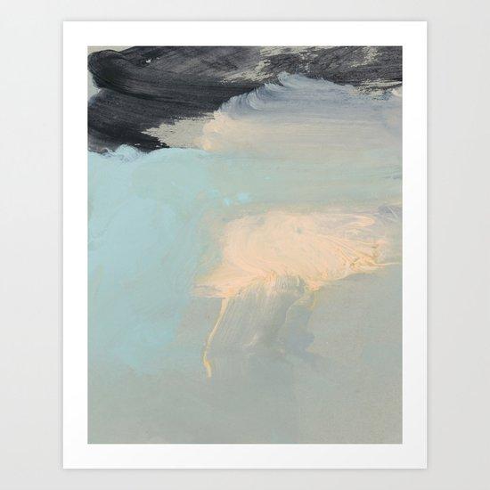 minimal brushtrokes 2 Art Print