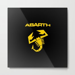 Abarth Scorpion yellow Metal Print