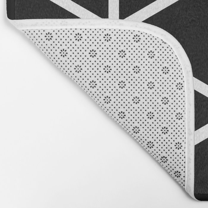 BLACK & WHITE TRIANGLES 2 Bath Mat