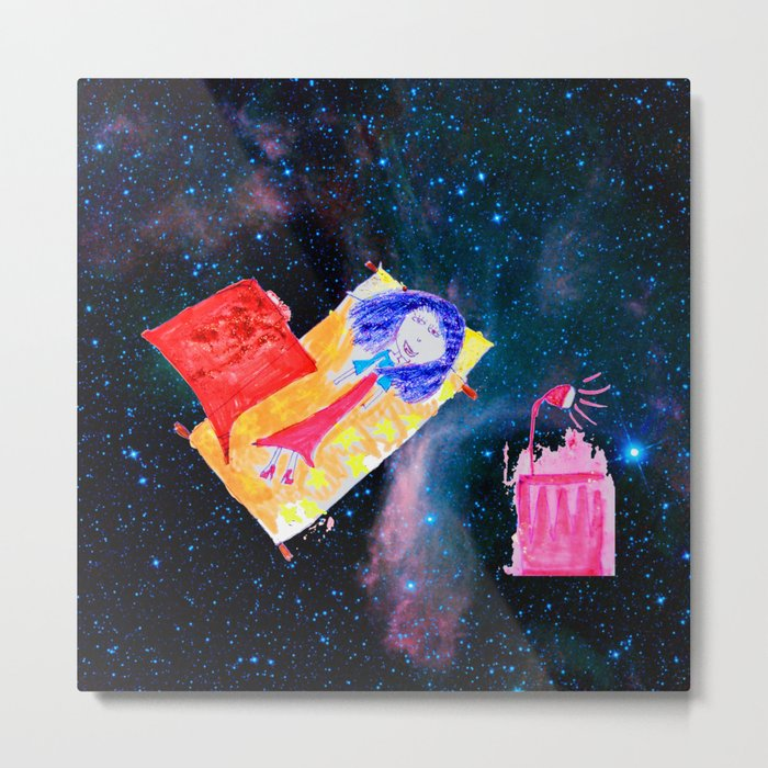 Τhe Universe is our Ηome | Kids Room up to the Space | Cosmos Metal Print